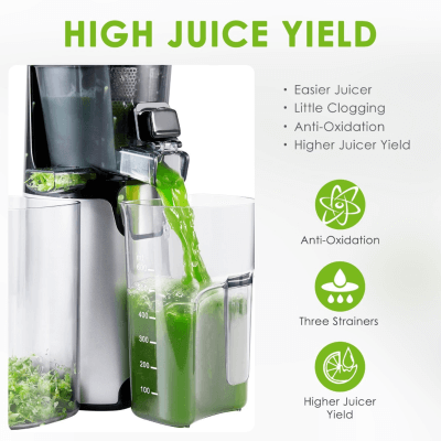 Aicok High Juice Yield For Cold Press Masticating Juicer