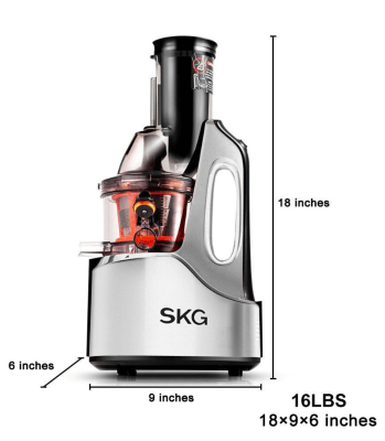 Best Masticating Juicer SKG Wide Mouth Chute