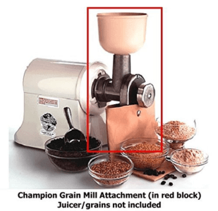 Champion Grain Mill Masticating Juicer
